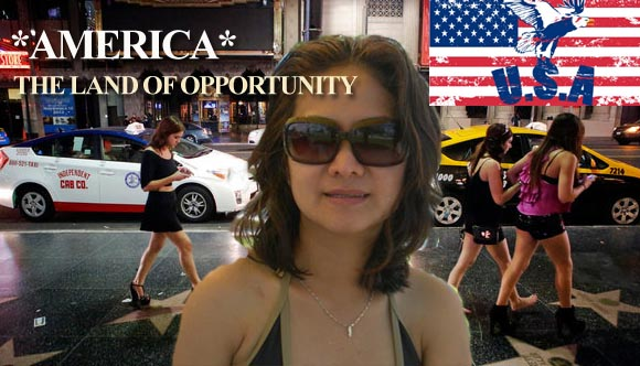 Filipino-American woman in Los Angeles of California